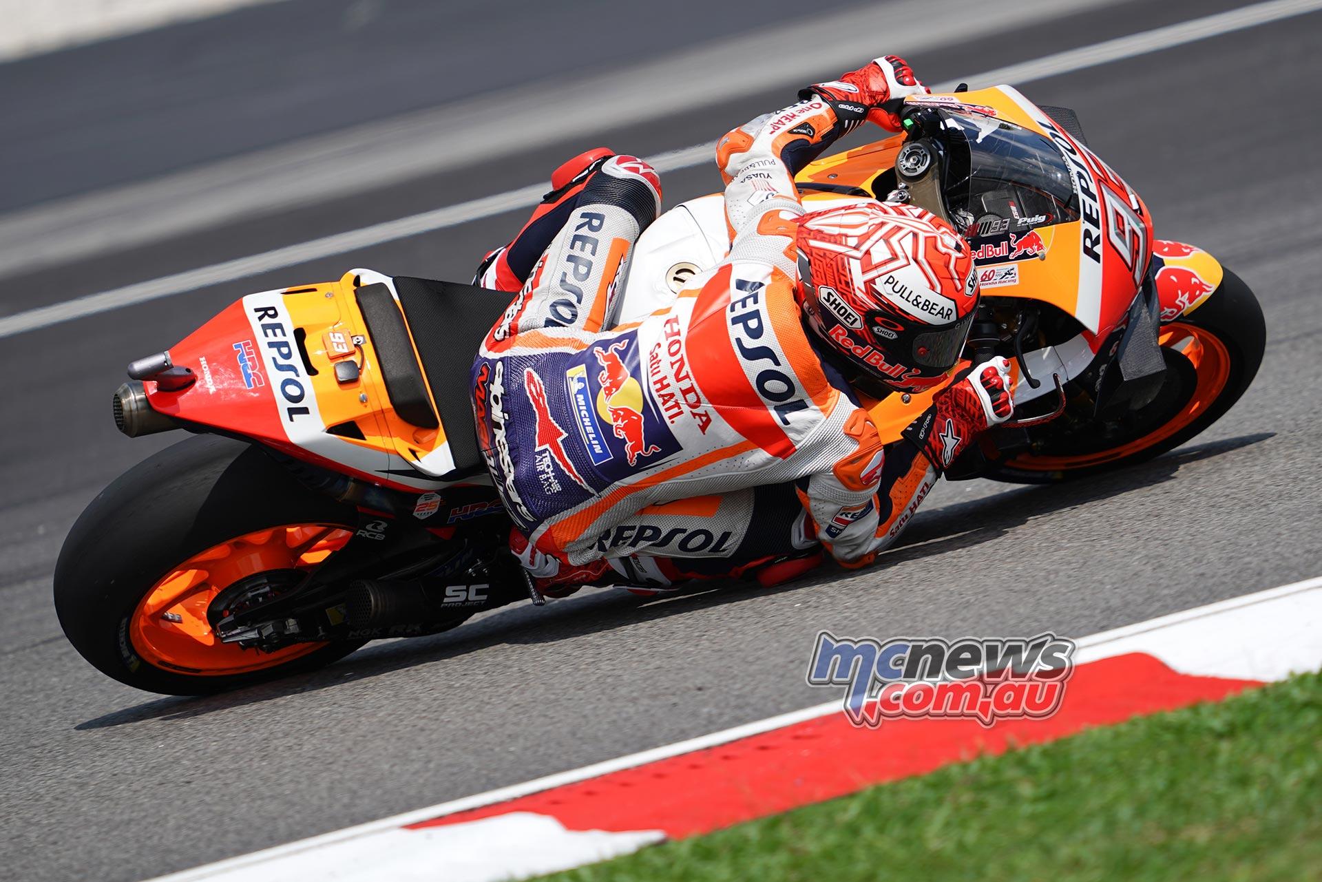 MotoGP Sepang QP Marquez Lean