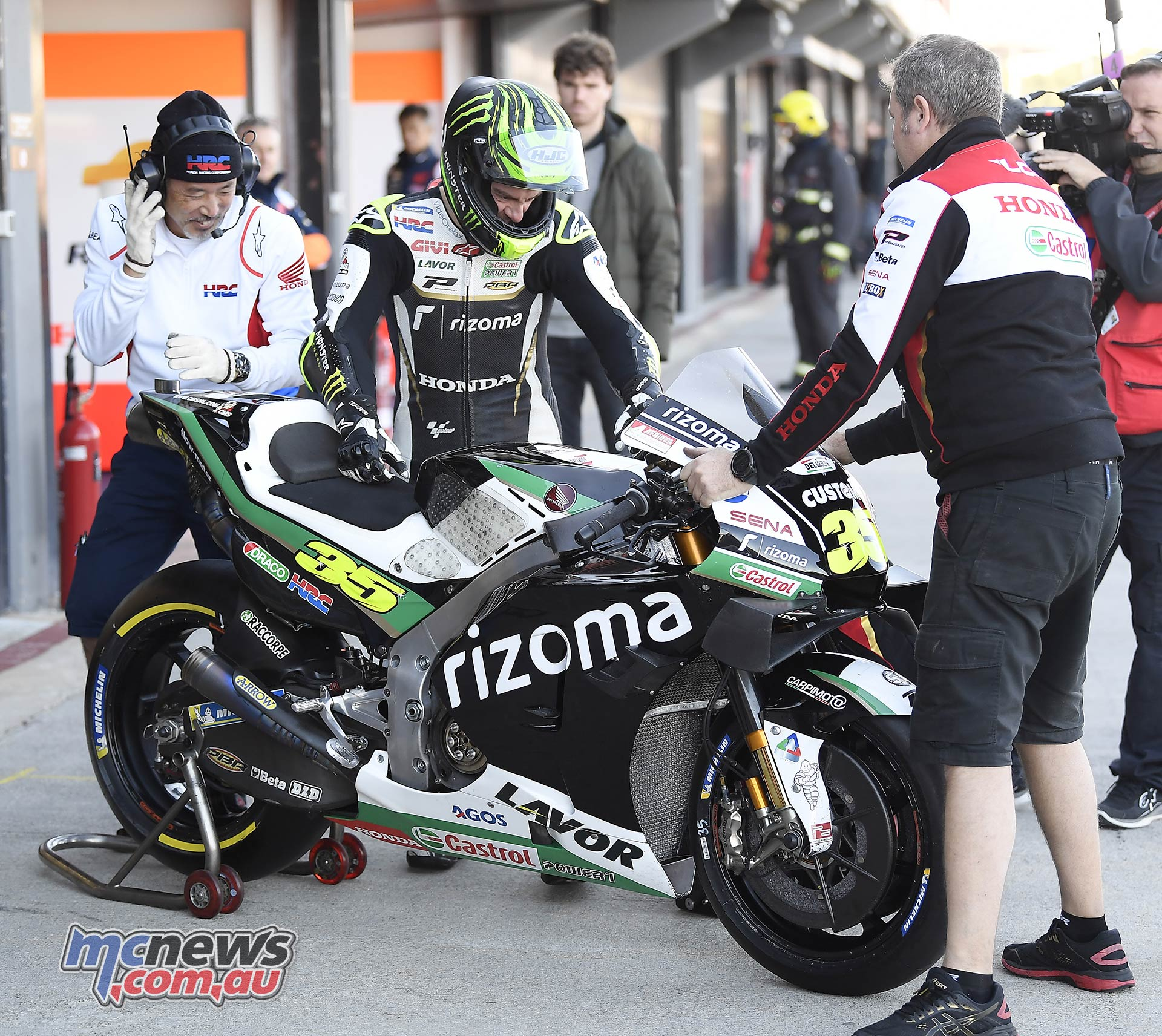 MotoGP Testing Valencia Day Crutchlow
