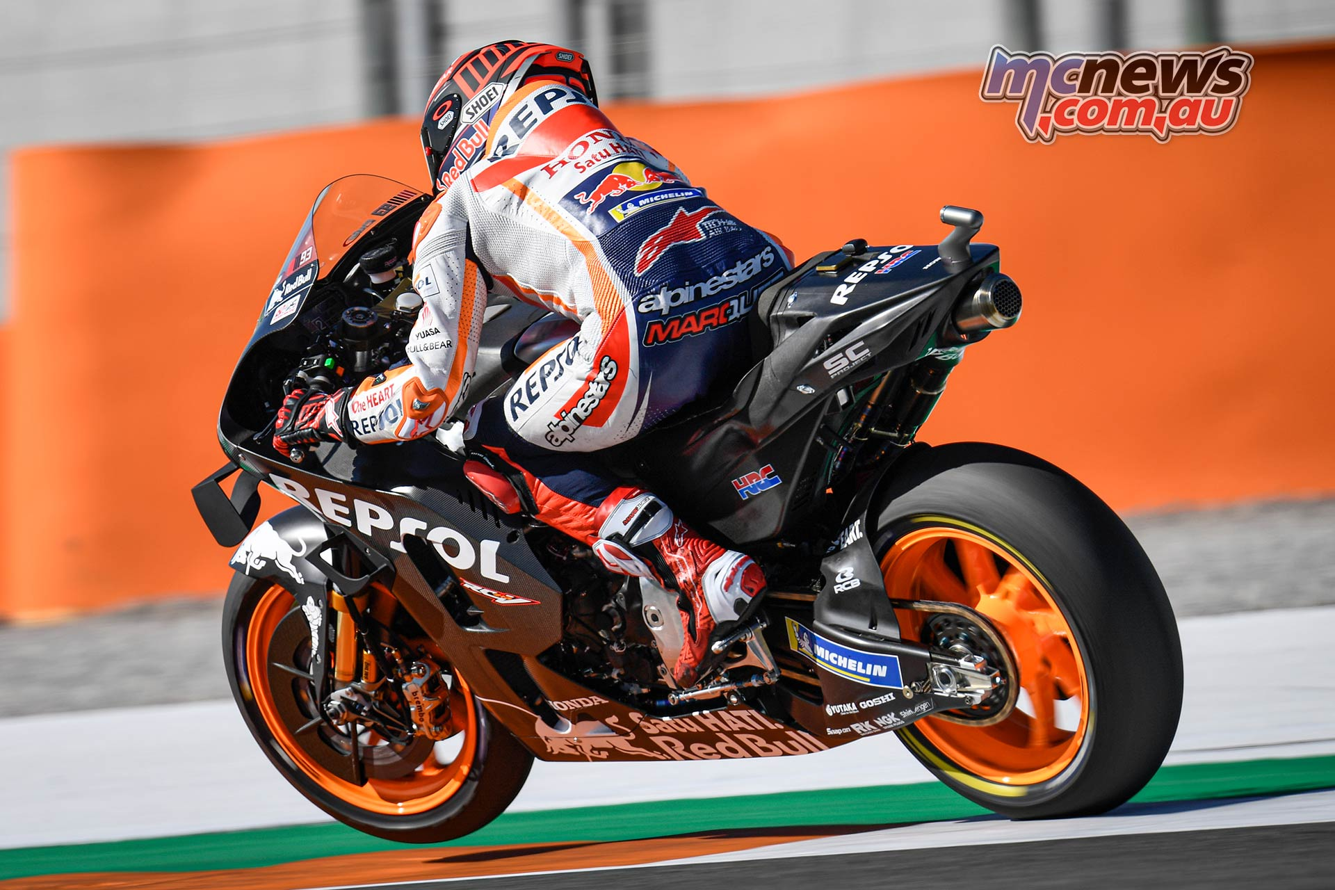 MotoGP Testing Valencia Day Marc Marquez