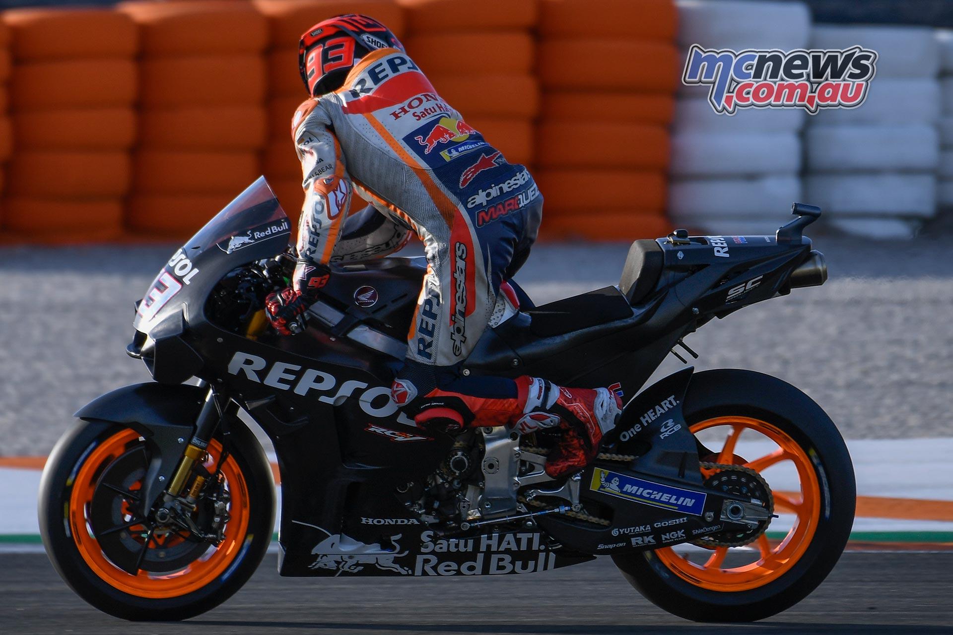MotoGP Valencia Test Day Marc Marquez