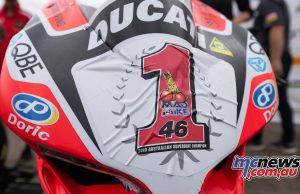 ASBK Rnd SMP RbMotoLens Jones Champ Sticker Ducati