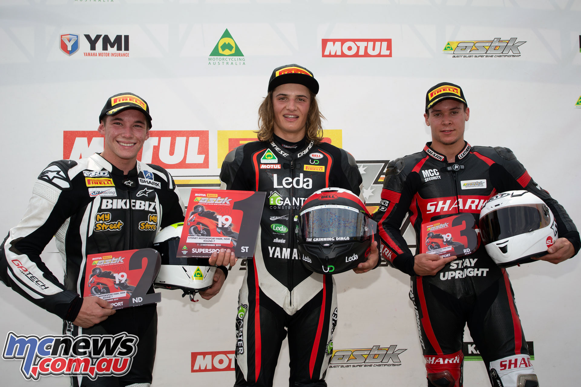 ASBK TBG Round SMP Supersport Podium TBG