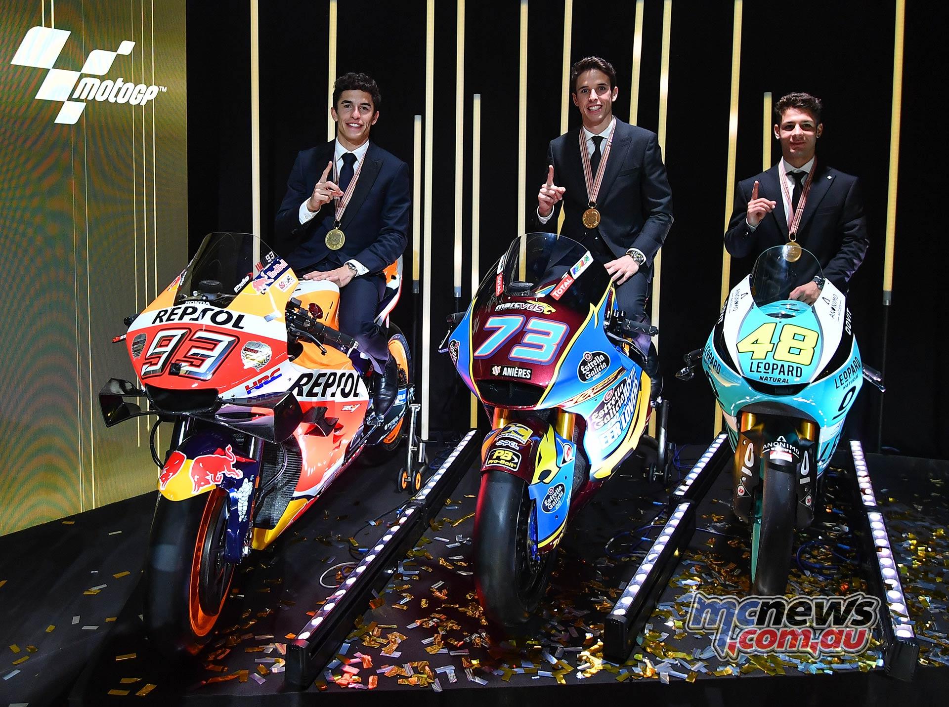 FIM MotoGP Awards Ceremony Champs Marquez DallaPorta