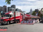 Honda Motorcycles Race Truck to Crown Melbourne
