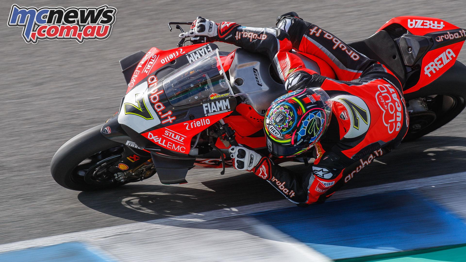 WorldSBK Test Jerez Thursday Action Davies