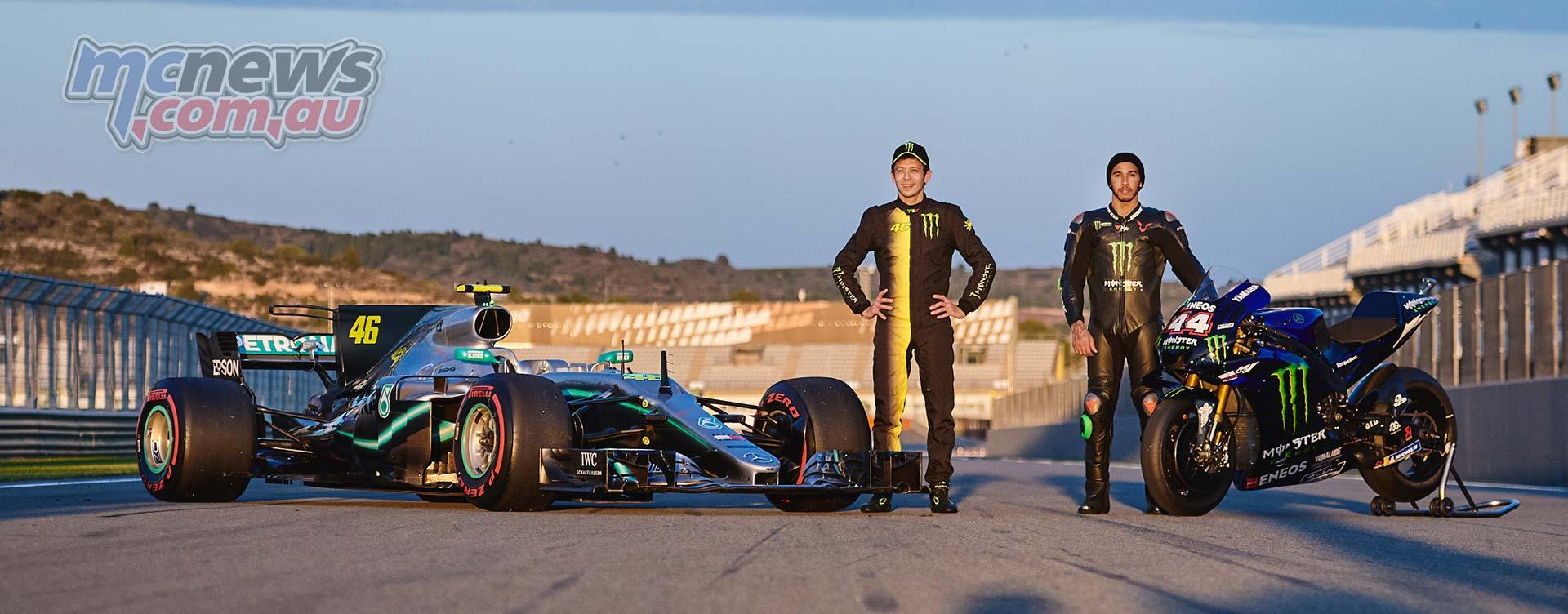 Rossi F Hamilton MotoGP