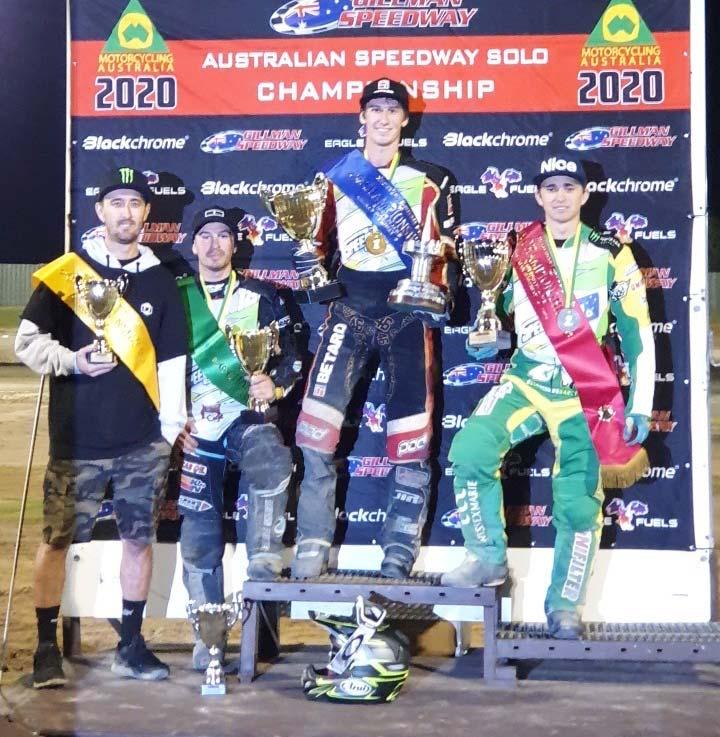 Australian Senior Solo Speedway Championship Podium