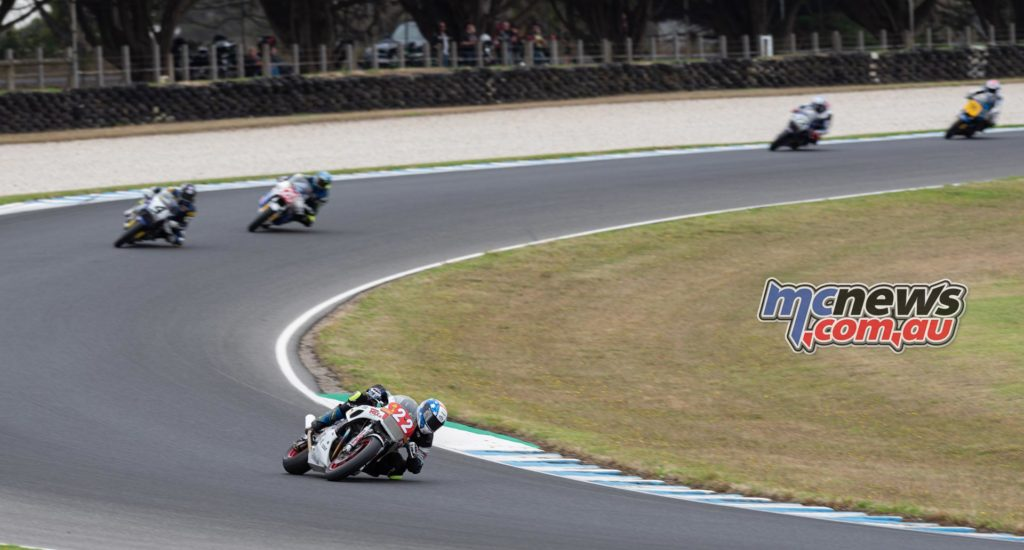 IIC Phillip Island RbMotoLens IC R Jed Metcher Leads from Josh Hayes Alex Phillis