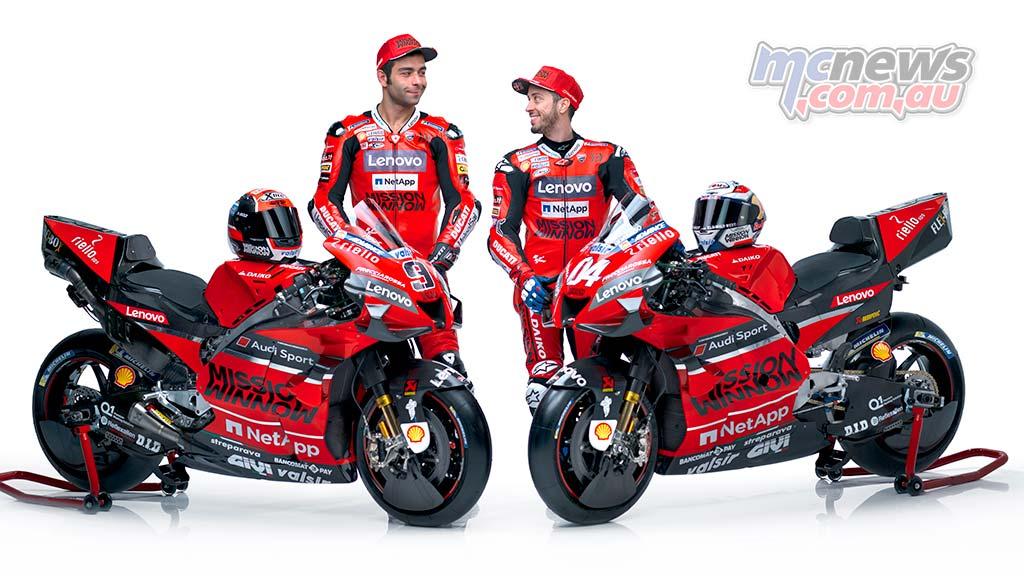 MotoGP Ducati Launch Dovizioso Petrucci