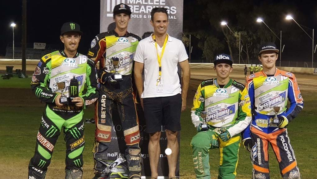 Australian Senior Solo Speedway Championships Rnd Mildura Podium