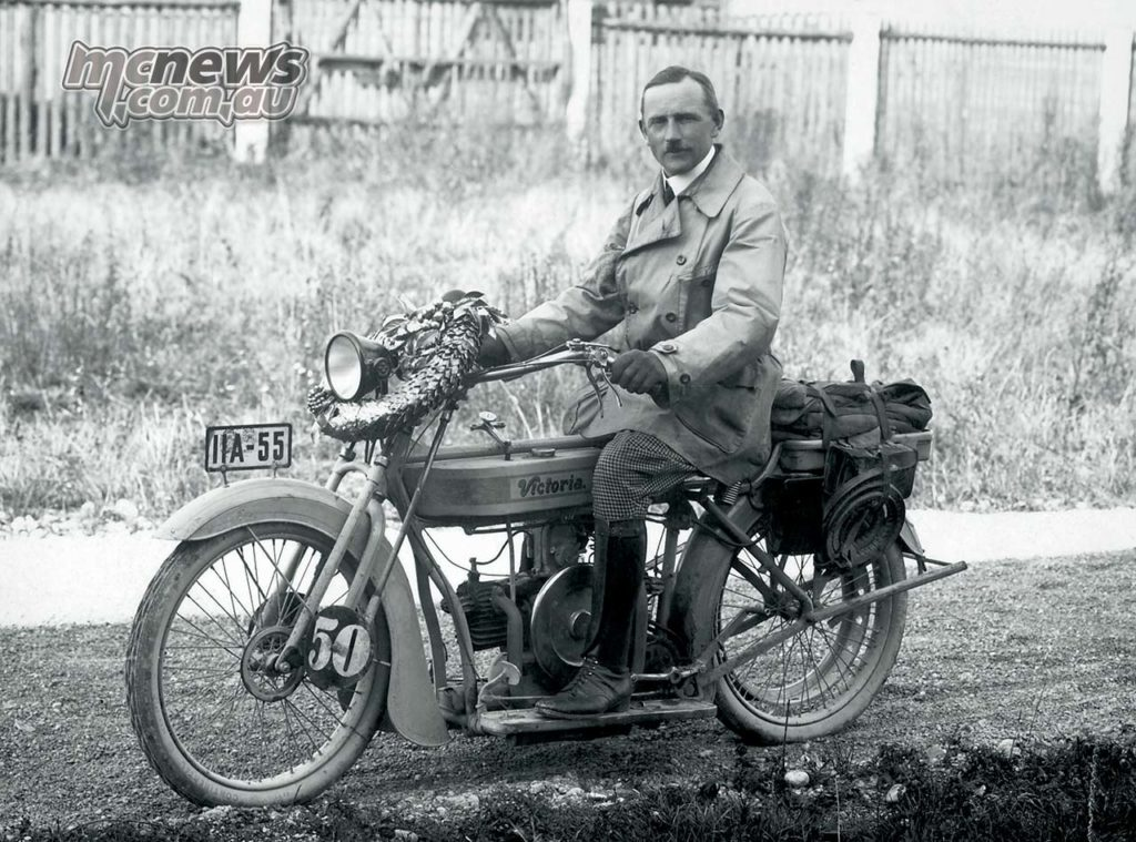 Martin Stolle with his Victoria powered by a M B engine