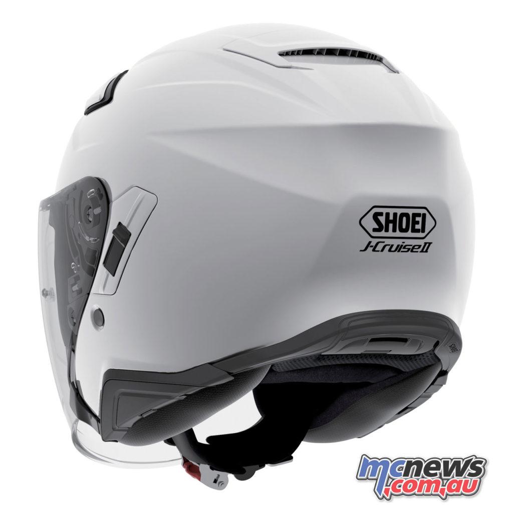 shoei j cruiseII solids white rear