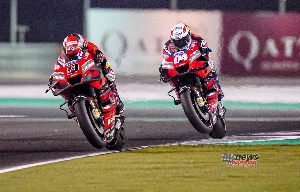 MotoGP QatarTest Day Dovizioso Petrucci Desmosedici Ducati