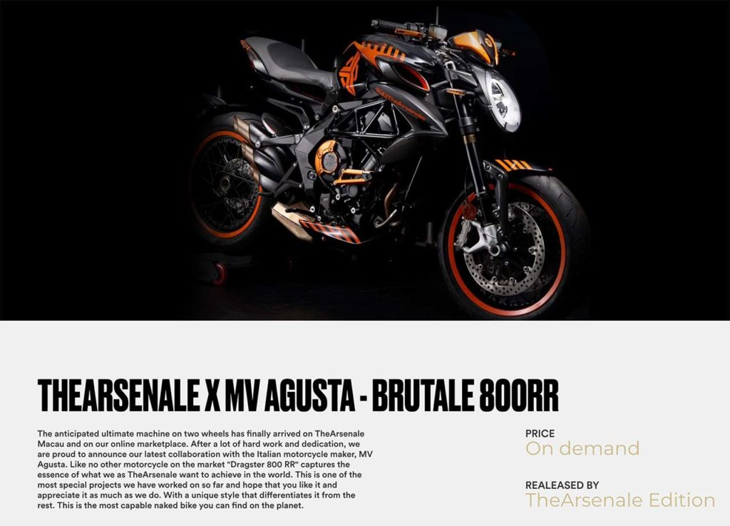 MV Agusta Dragster RR x TheArsenale Brutale