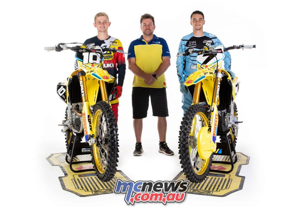 Brodie Ellis And Connor Tierney SB Motorsports Suzuki Team Photoshoot Marc Jones Photography