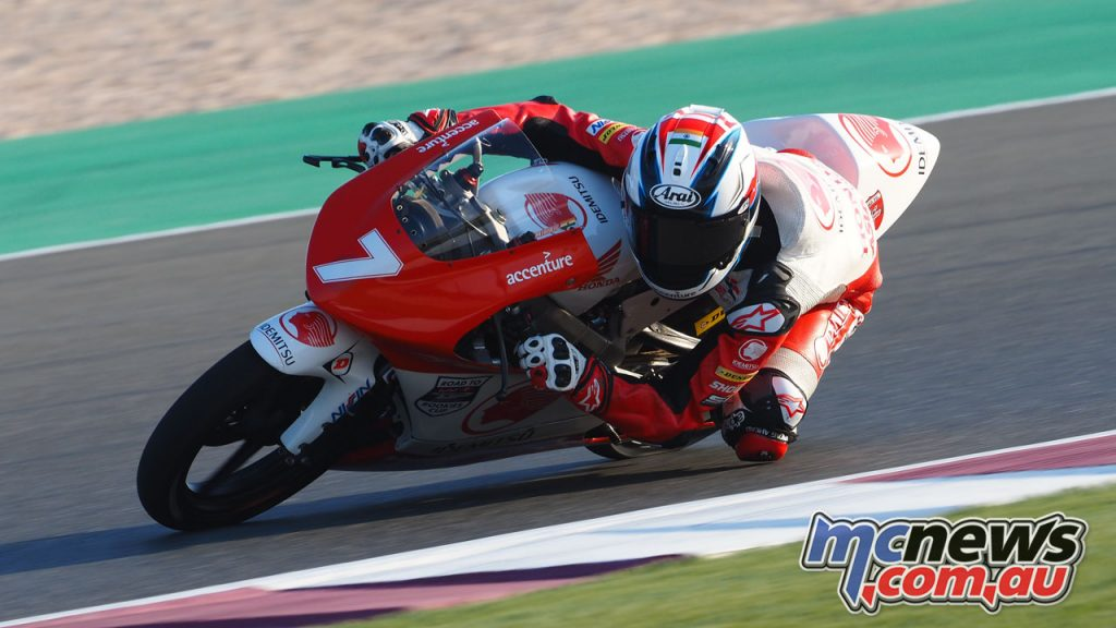Asia Talent Cup Rnd Qatar Carter Thompson Action