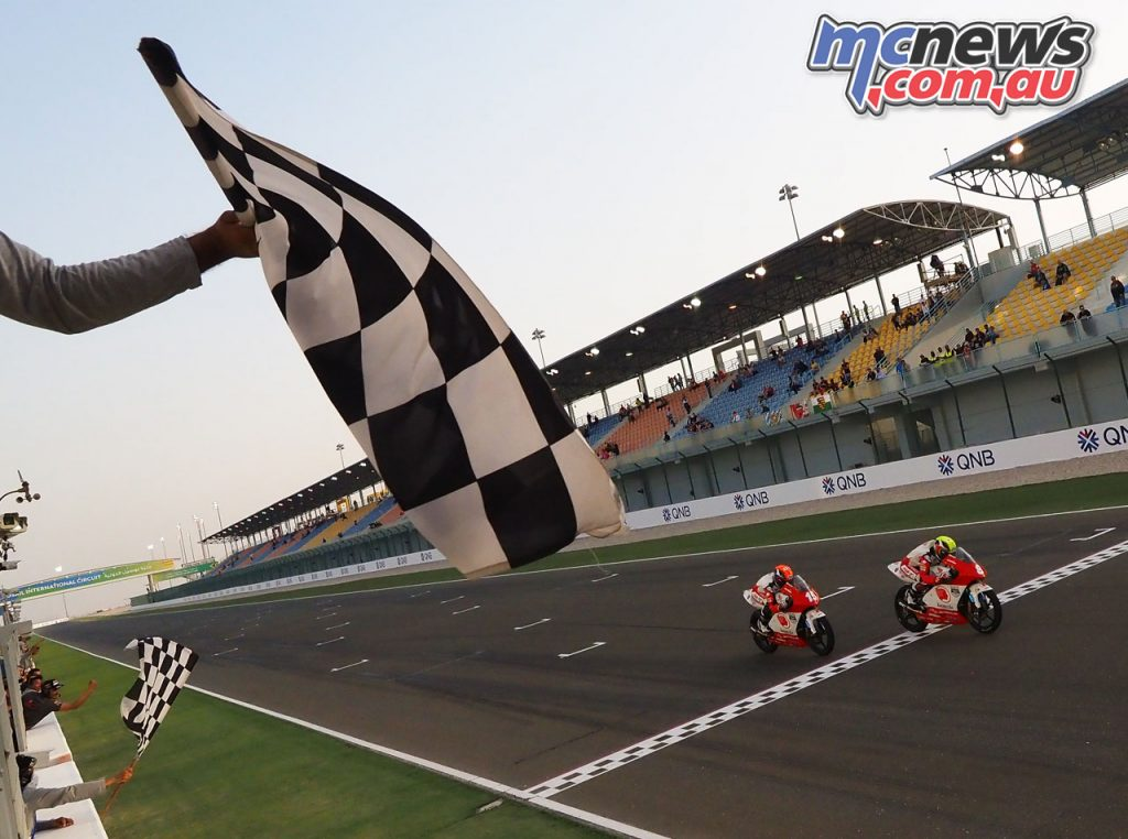 Asia Talent Cup Rnd Qatar Race Finish