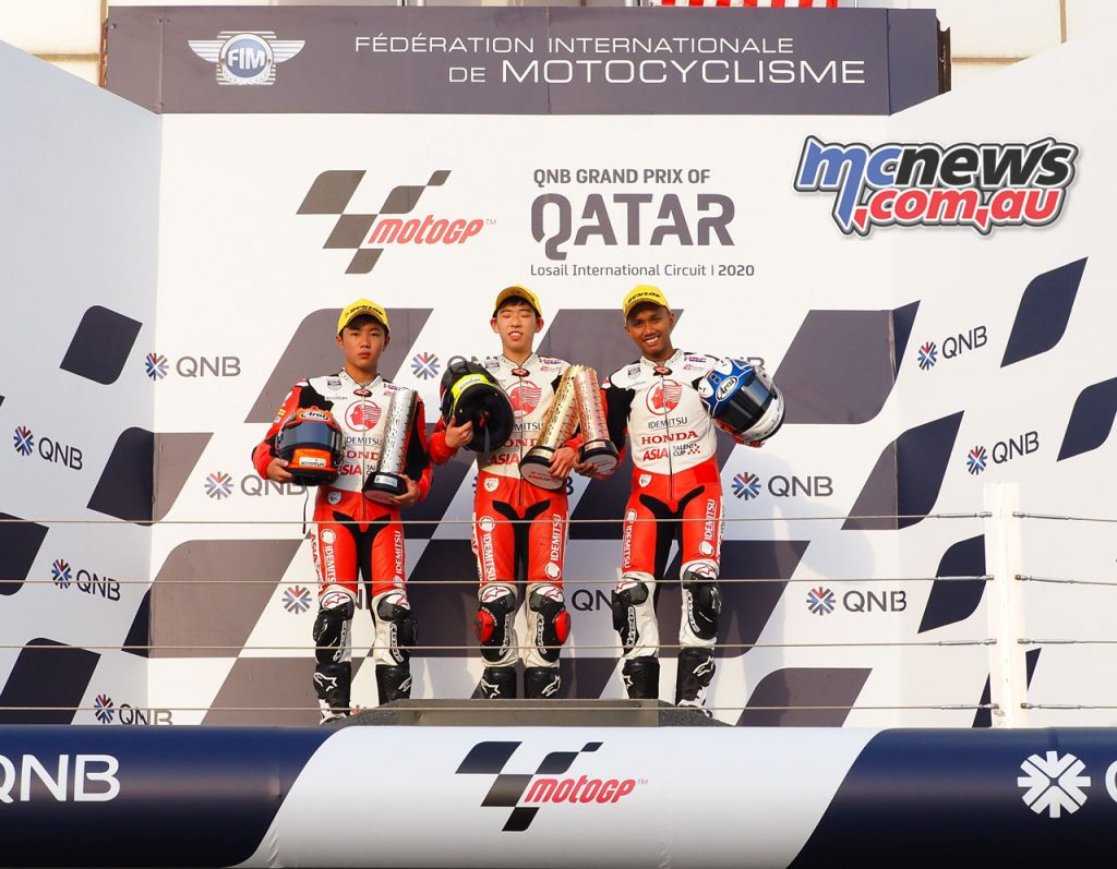 Asia Talent Cup Rnd Qatar Race Podium