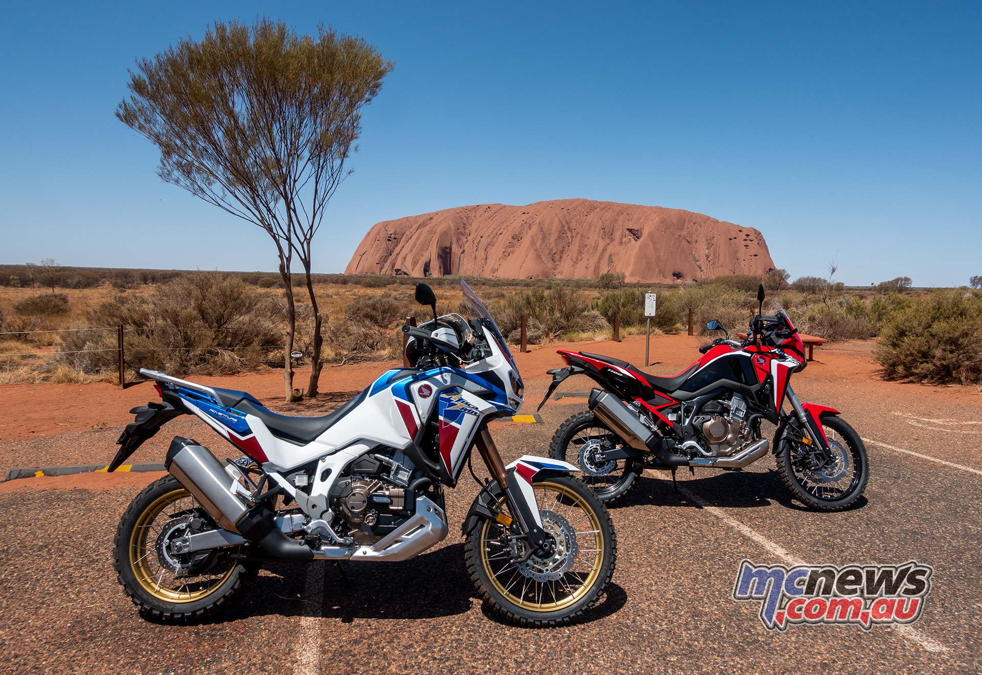 Honda Africa Twin Ayers Rock Bikes Day