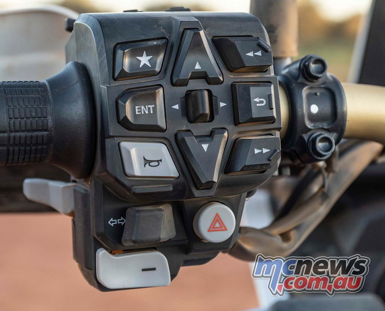 Honda Africa Twin Dash Controls