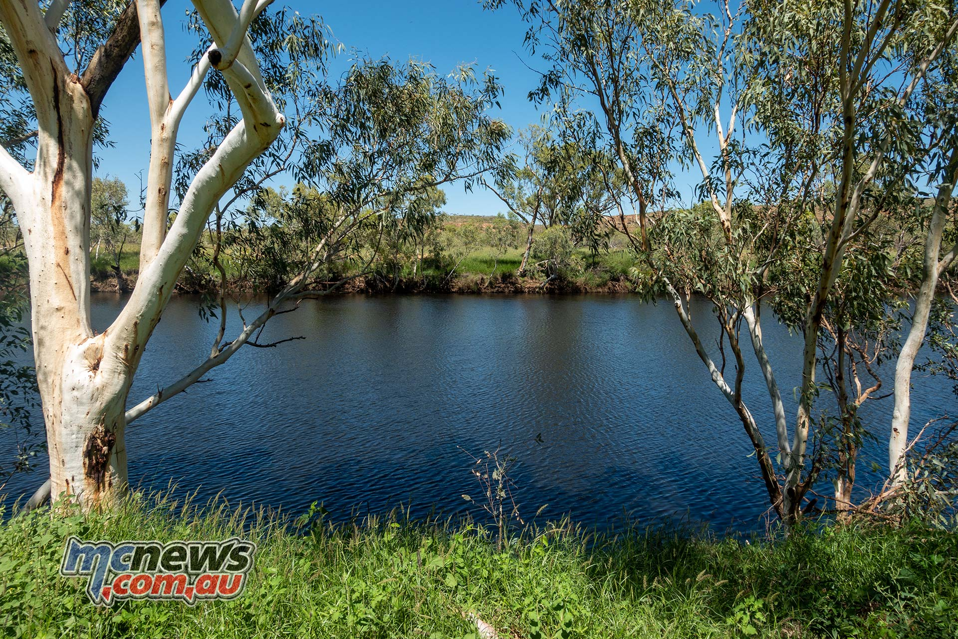 Honda Africa Twin Day Lunch Iytwelepenty Davenport Ranges National Park Old Police Station Waterhole
