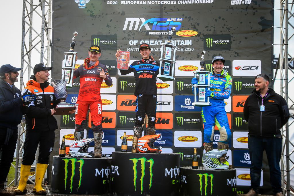 MXGP Rnd Britain EMX Podium