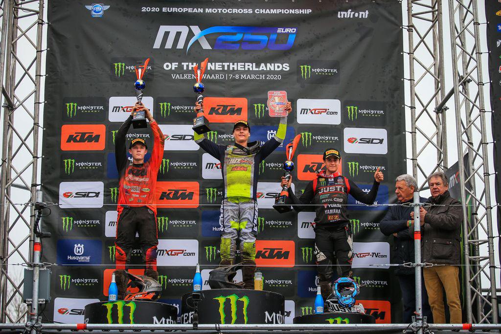 MXGP Rnd Netherlands EMX Podium