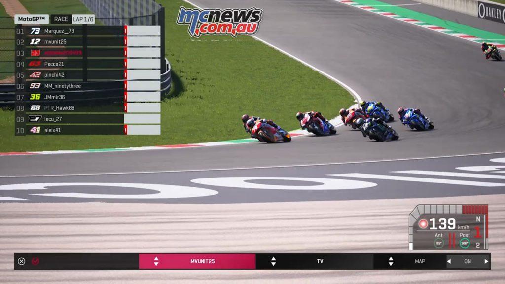Virtual MotoGP R field