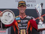 WSBK Rnd Phillip Island RbMotoLens ASBK Race and Round Podium Wayne MAXWELL winner