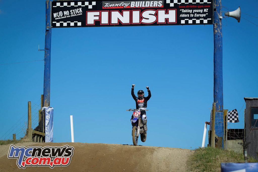 Altherm JCR Yamahas Kirk Gibbs wins the Fox New Zealand Motocross Championships MX title