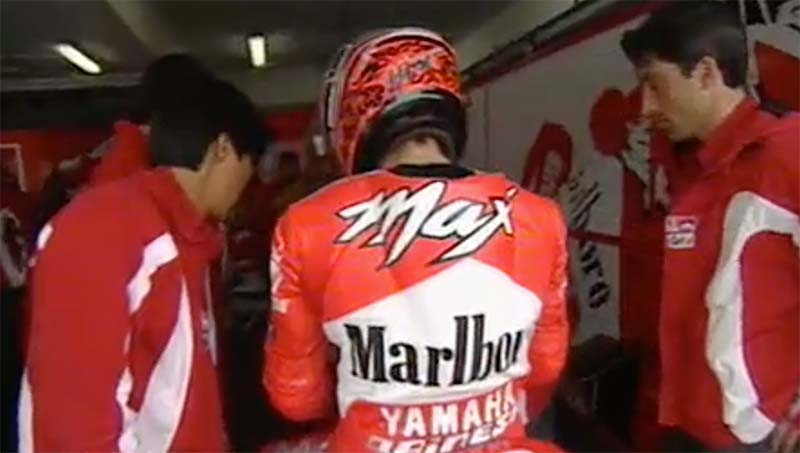 MotoGP Rnd Jerez Biaggi Retires