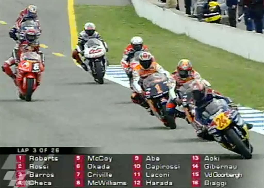 MotoGP Rnd Jerez Lap McCoy Okada Criville