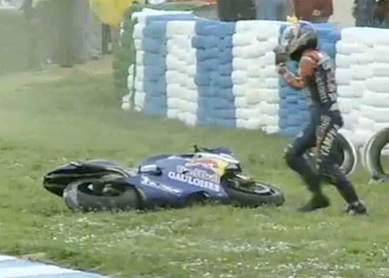 MotoGP Rnd Jerez Part McCoy Crash