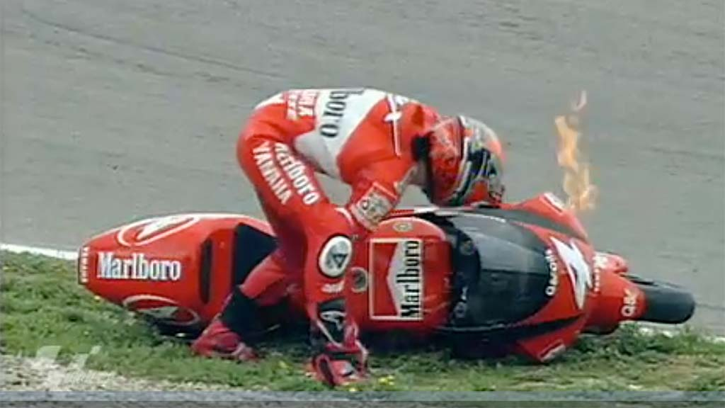 Throwback Thursday A Flaming Crazy Mixed Up Spanish Gp Motorcycle News Sport And Reviews