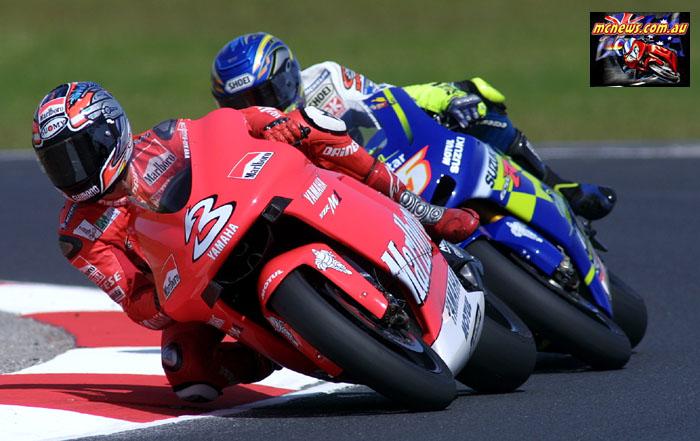 Australian GP MotoGP Biaggi Gibernau Front