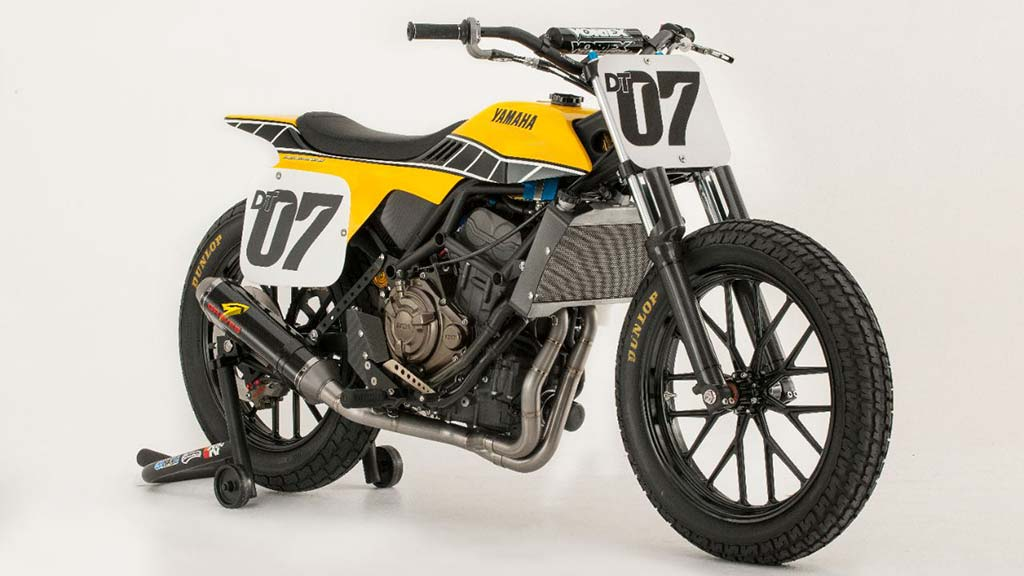Yamaha MT Flat Track Yellow RHF