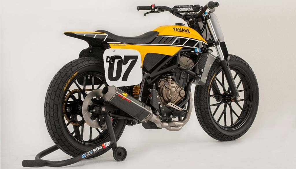 Yamaha MT Flat Track Yellow RHR