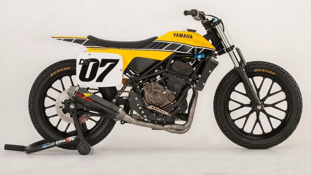 Yamaha MT Flat Track Yellow RHS