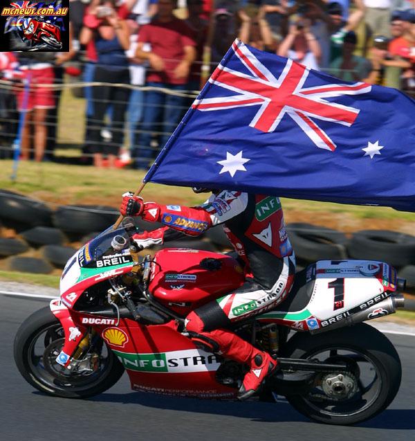 WorldSBK Rnd Phillip Island Bayliss Flag MG p
