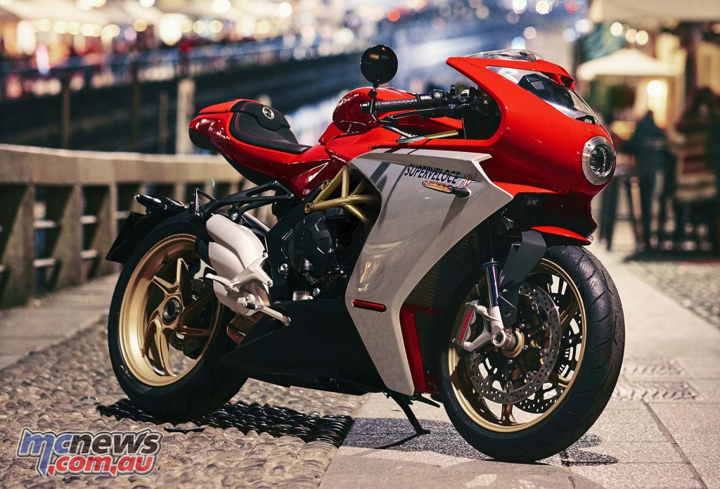 MV Agusta Superveloce red ambient