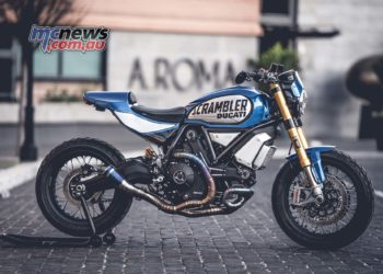 Scrambler 1100 FT customized by Italian Marco Graziani of CC Racing Garage