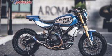 Scrambler 1100 FT customized by Italian Marco Graziani of CC Racing Garage