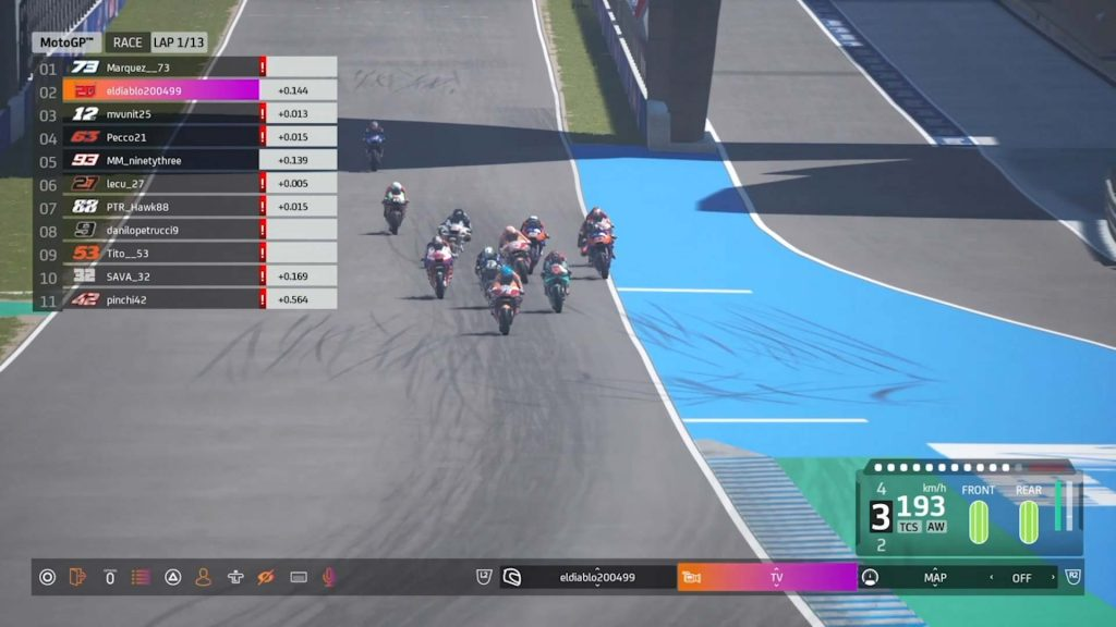 Virtual Gp Of Spain MGP RACE START