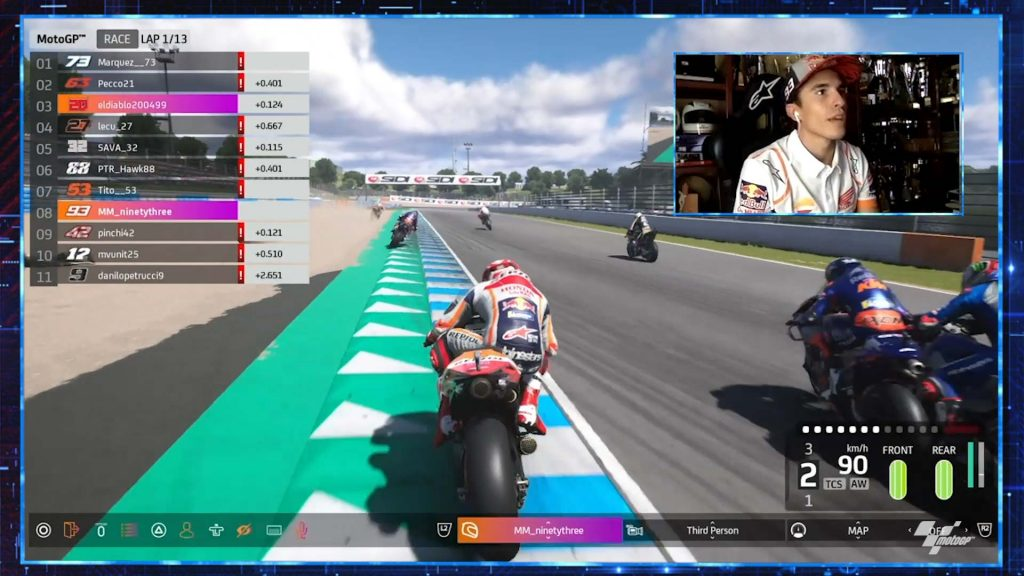 Virtual Gp Of Spain Marc Marquez