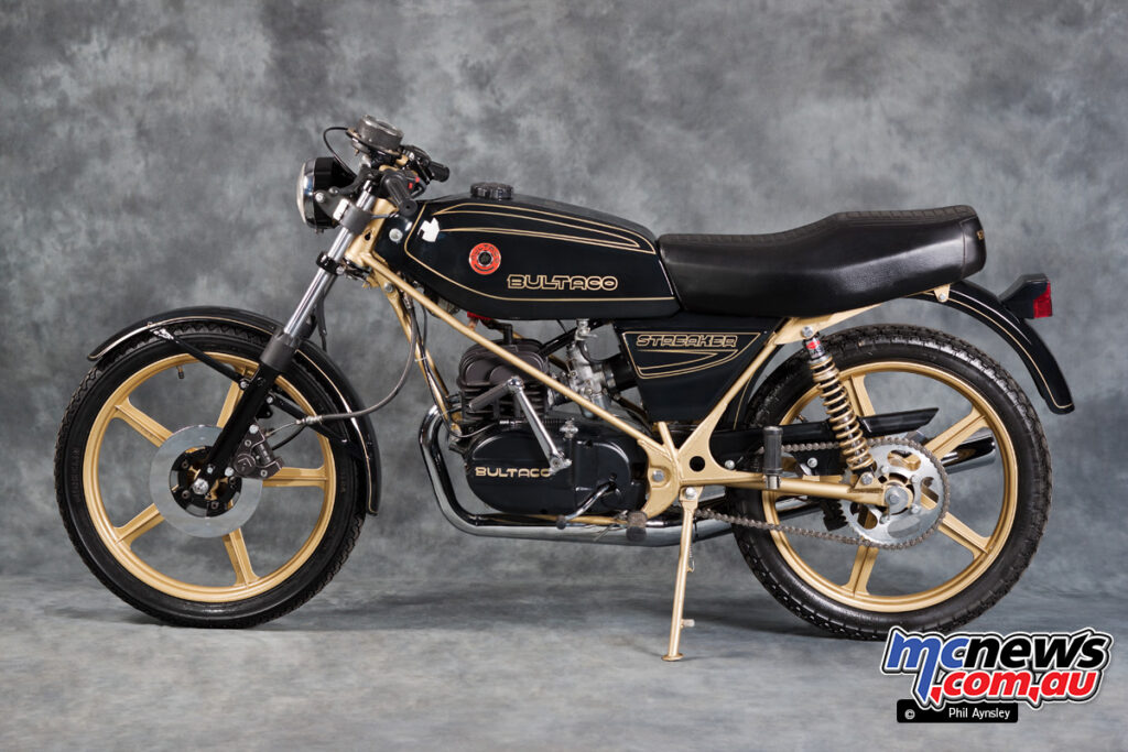 The Bultaco Streaker 125 was actually an export model, with a 75 version run for a domestic single-make race series