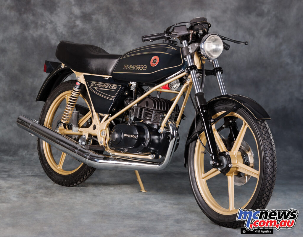 The Bultaco Streaker weighed just 85 kg dry and was good for 116 km/h