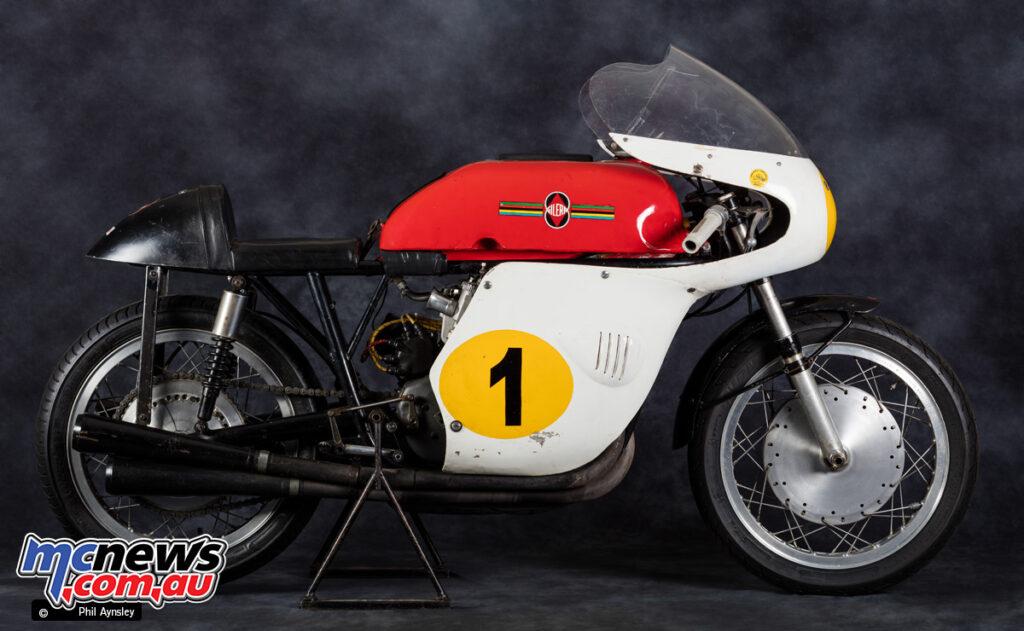 An original Gilera 500/4 racer