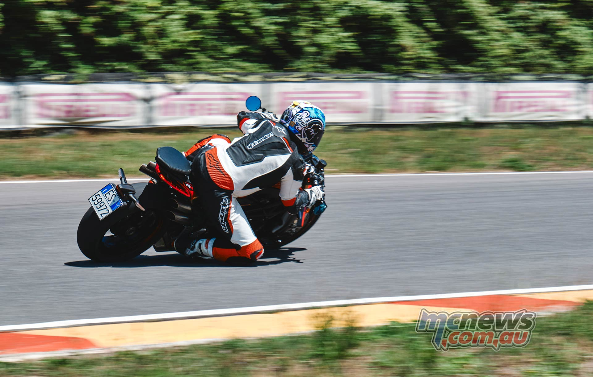 Adam tests the MV Agusta Brutale 1000 RR on the track