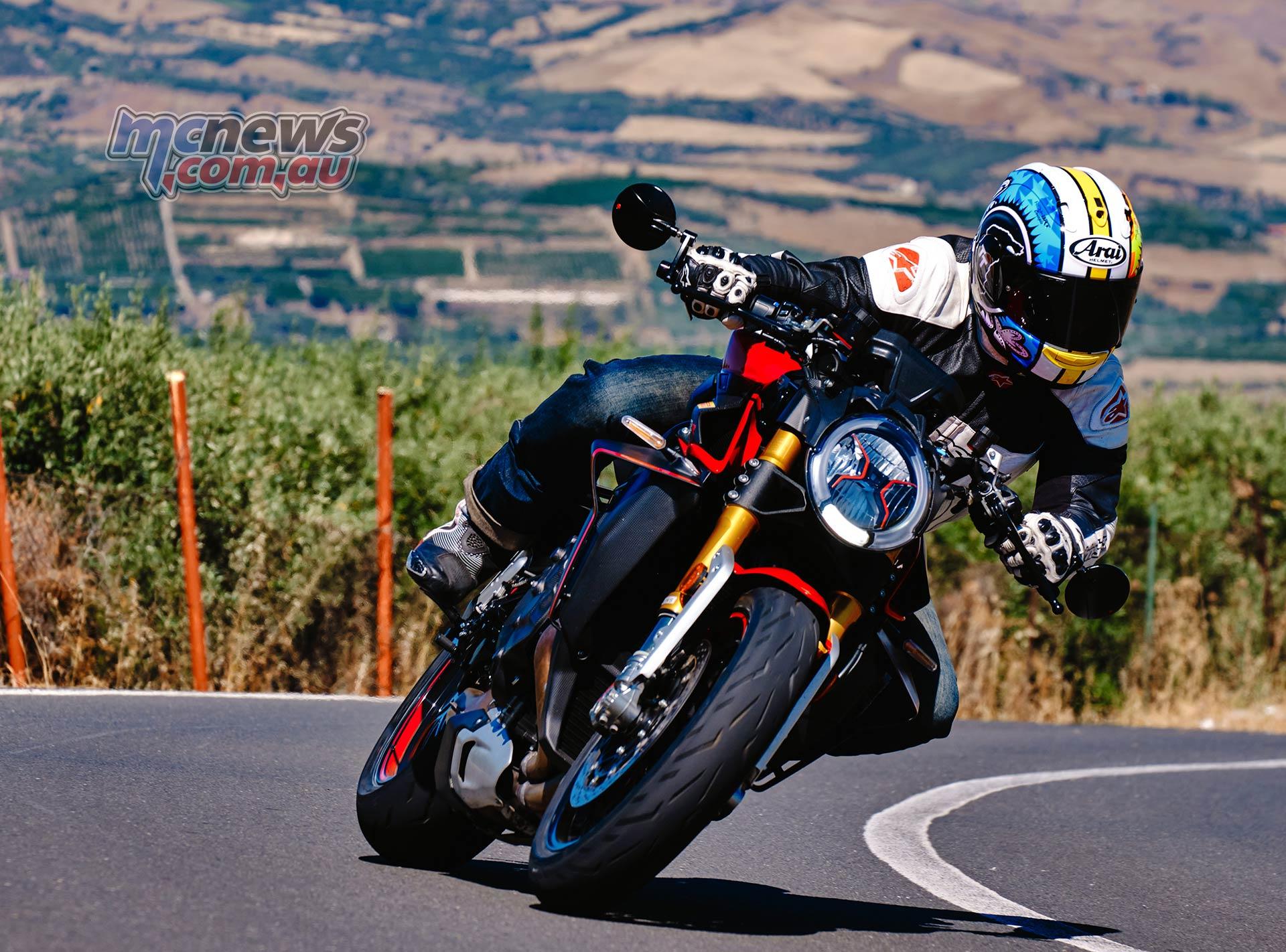 Adam riding the roads below Mount Etna