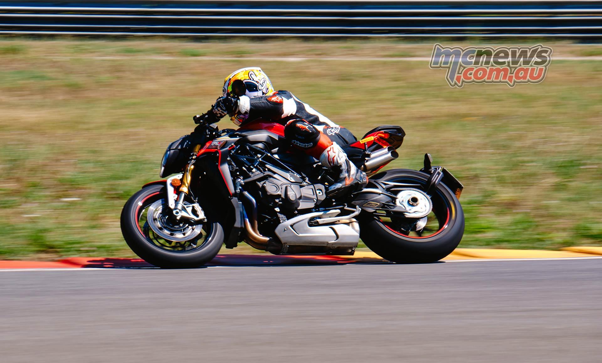 MV Agusta Brutale 1000 RR at the racetrack